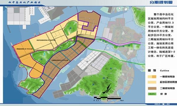 大连西中岛石化产业园区分期规划图